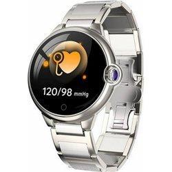 Zegarek - Smartwatch Damski Garett Karen srebrny-stalowy