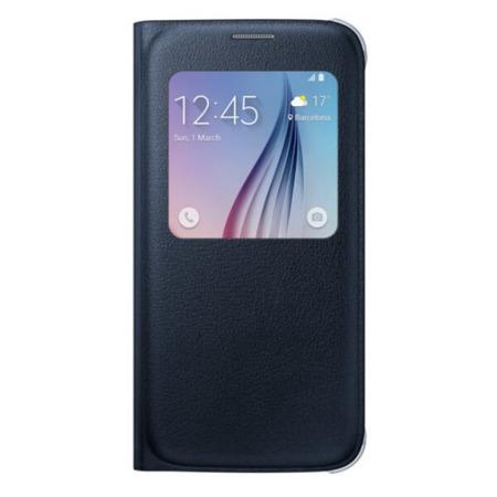 Etui S View Cover do Samsung Galaxy S6 Flat, Czarny (PU)