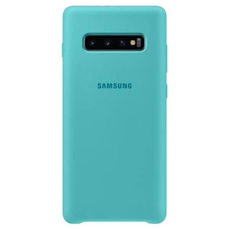 Etui Silicone Cover do Samsung Galaxy S10+ zielone