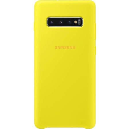 Etui do Samsung Galaxy S10+ żółte silikonowe