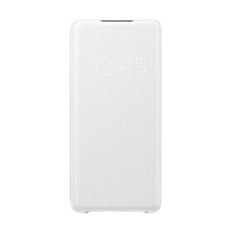 Etui do Samsung Galaxy S20+ LED Case biały