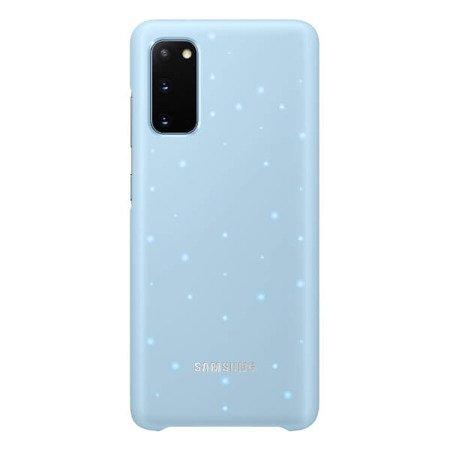 Etui do Samsung Galaxy S20 - LED Case błękitny