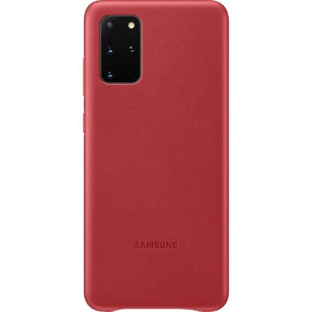 Etui do Samsung Galaxy S20+ skórzane czerwone