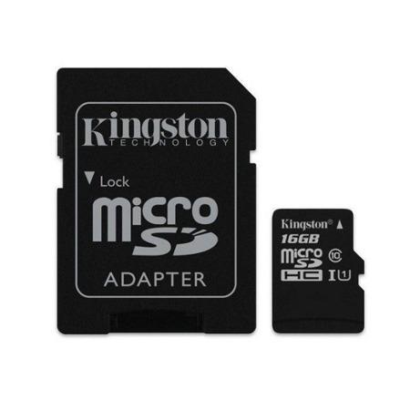 KINGSTON Karta Pamięci micro SDHC Class 10 UHS-I 16GB + adapter