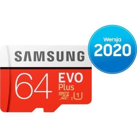 Karta pamięci Samsung microSD z adapterem EVO Plus 2020 64 GB
