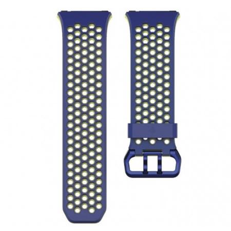 Pasek Sport do Fitbit Ionic niebiesko-żółty duży (L)