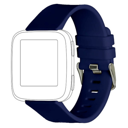 Pasek TOPP do Fitbit Versa silikon niebieski