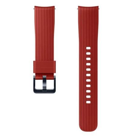 Pasek silikonowy (20mm) do Samsung Galaxy Watch (42mm) czerwony