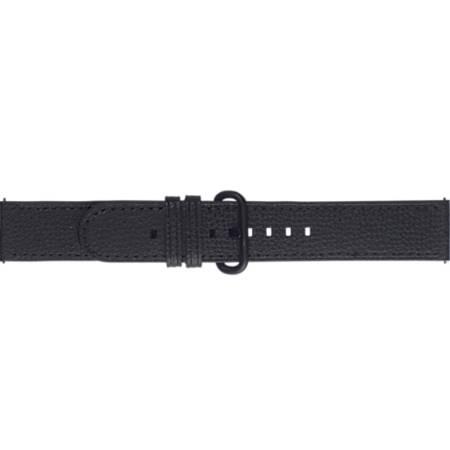Pasek skórzany Essence do Samsung Galaxy Watch Active/Active2 czarny