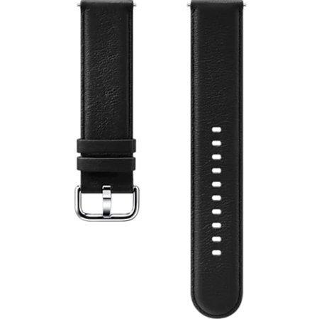 Pasek skórzany do Smartwatcha Samsung Galaxy Watch Active/Active 2 czarny