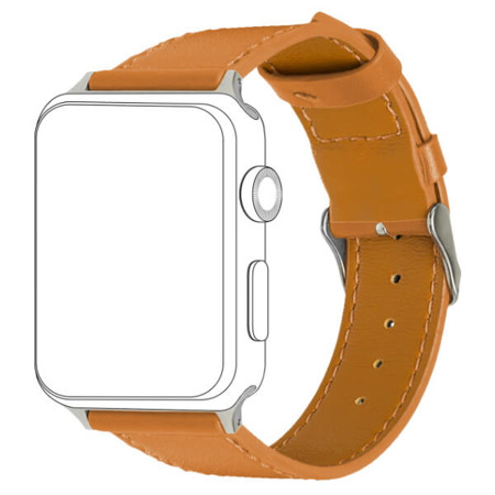 TOPP pasek do Apple Watch 38/40 mm skóra brązowy