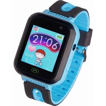 Zegarek - Smartwatch dla Dzieci Garett Kids Fine czarno-niebieski