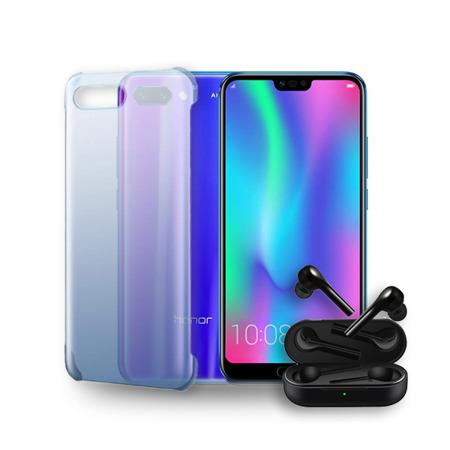 Zestaw HONOR 10 4/128GB niebieski + słuchawki + etui