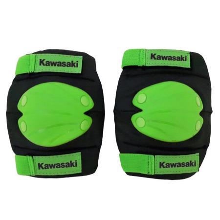 Zestaw ochraniaczy na łokcie i kolana Kawasaki L zielone